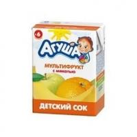 Сок Агуша детский мультифрукт (200 МЛ) с 6 ти месяцев