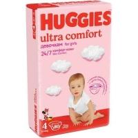 Подгузники Huggies Ultra Comfort 4 (8-14 КГ) для девочек (80 ШТ)
