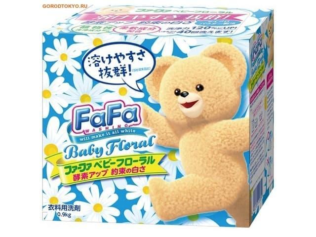 Nissan FaFa Baby Floral Концентрированный стиральный порошок для детской одежды с кондиционером 0,9
