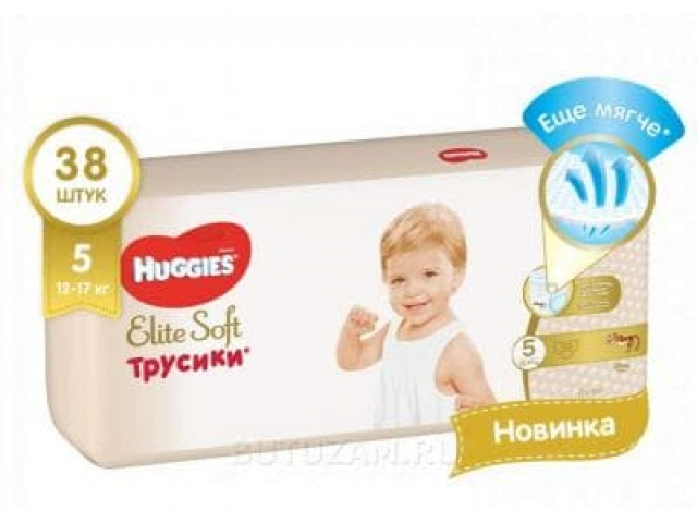 Huggies Elite Soft (Хагис Элит Софт ) подгузники-трусики XL (5) 38 шт. 12-17 кг.
