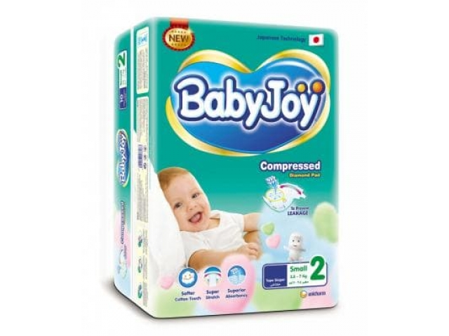 Подгузники Baby Joy 2 Small (3.5-7 кг.) 62 шт. Jumbo упаковка