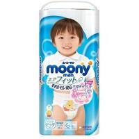 Трусики для мальчика Moony Man 12-22 кг. (XL) 38 шт.