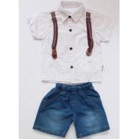 Комплект для мальчика рубашка+шорты LMB-01-1