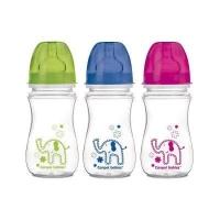 Canpol Colourful animals 240 мл бутылочка антиколиковая PP EasyStart с шир. горлышком