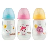 Lubby Малышарики 250 мл бутылочка д/кормления (20898, силикон, ПП, 0+)(Китай)