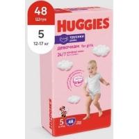 Подгузники- трусики Huggies трусики для девочек 5 (13-17 кг) 48 шт.