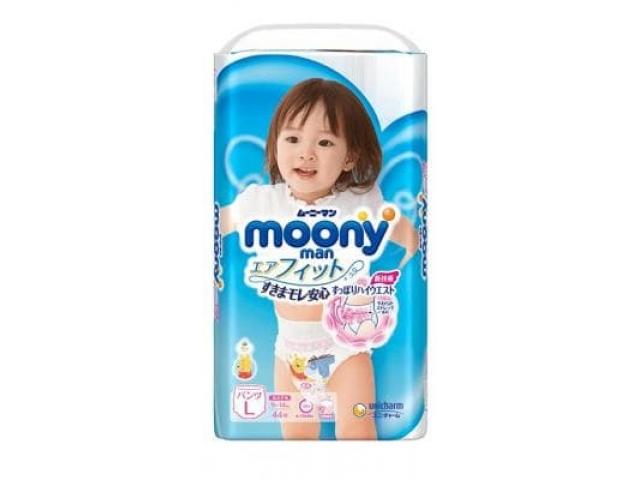 Подгузники-трусики Moony для девочек L(9-14) 44 шт.