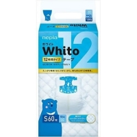 Подгузники Whito 12 часов S 4-8 кг 60 шт