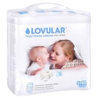 детские подгузники lovular hot wind S 0-6 кг., 80 шт.