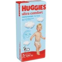 Подгузники Huggies Ultra Comfort ) 5 (12-22 КГ) для мальчиков (64 ШТ)