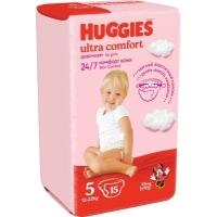 huggies (Хаггис) ultra comfort 5 для девочек 15 шт.