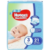 huggies (Хаггис) ultra comfort 3 для мальчиков  21 шт.