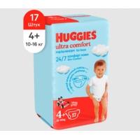 huggies (Хаггис) ultra comfort 4+ для мальчиков 17 шт.