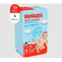 huggies (Хаггис) ultra comfort 4 для мальчиков 19 шт.