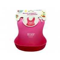 Нагрудник для кормления (силикон-резина) roxy kids