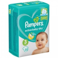 Подгузники Рampers Active Baby Dry 3 (6-10 кг.) 22 шт