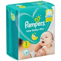 Подгузники Рampers Active Baby Dry 1 (2-5 кг.) 27 шт