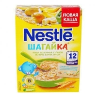 Nestlé Шагайка Каша молочная 5 злаков Яблоко, банан, груша с 12 мес.