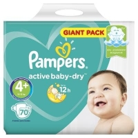 Подгузники Рampers Active Baby Dry Maxi+ 4+ (10-15 кг.) 70 шт