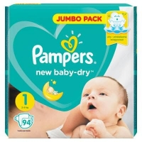 Подгузники Рampers New Baby Dry Newborn 1 (2-5 кг.) 94 шт