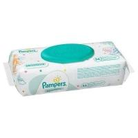 Pampers  влажные салфетки Sensitive 56