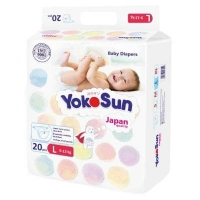 "Подгузники ""YokoSun"" Comfort  L20 (9-13 кг)"