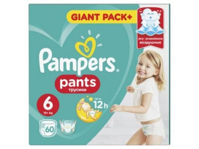 Pampers трусики Pants Extra Large 6 (15+ кг.) 60 шт.