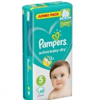 Pampers подгузники Active Baby Dry Junior 5 60 шт. 11-15 кг.