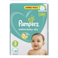 Pampers подгузники Active Baby Dry Midi 3 82 шт. 6-10 кг.