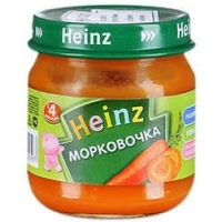 Heinz пюре Морковочка  80г.
