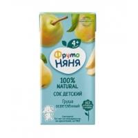 Фруто Няня Сок Грушевый осветленный 0.2л