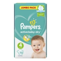 Pampers Active baby-dry 4 maxi 70шт