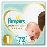 Pampers premium care (2-5 кг) 72 шт