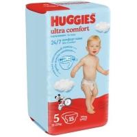 huggies (Хаггис) ultra comfort 5 для мальчиков 15 шт