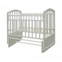"""Кровать детская Антел """"Алита-2"""", (белый), состав - дерево (береза), колесо-качалка"""