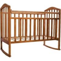 """Кровать детская Антел """"Алита-2"""", (орех), состав - дерево (береза), колесо-качалка"""