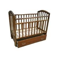 """Кровать детская Антел """"Алита-4"""", (орех), состав - дерево (береза)"""