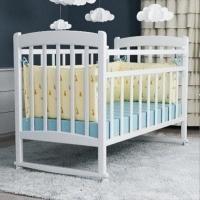 """Кровать детская ВДК """"Selia"""", (белый), состав - дерево (береза), колесо-качалка"""
