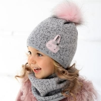 .AJS комплект 36-350 шапка подкл.флис+снуд (р.46-48)