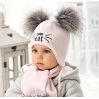 .AJS комплект 38-408 шапка флисовая + шарф (р.38,40,42)