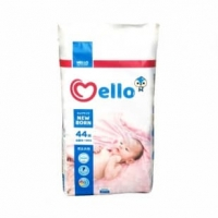 """Подгузники """"Mello"""" размер NB (0-5 кг.) 44 шт."""