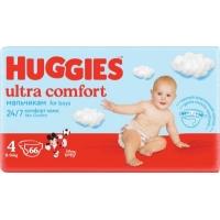 Huggies ultra comfort  для мальчиков 4 (8-14 кг) 66 шт.