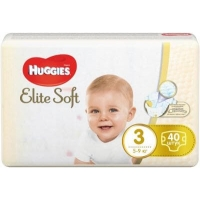 Подгузники Huggies Elite Soft 3 (5-9 кг) 40 шт,