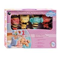 Подвеска -  карусель с мягкими игрушками (облако заботы)