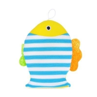 Махровая мочалка-рукавичка Рыбка. roxy kids