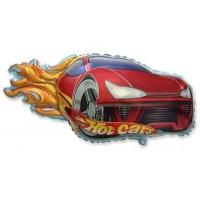 Шар фольгированный Hot cars наполненный гелием