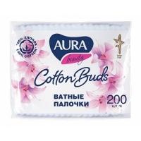 Aura № 200 палочки ватные в пакете