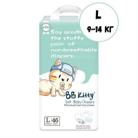 Подгузники BB Kitty L 46шт. (9-14 кг)