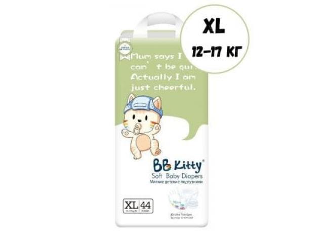 Подгузники BB Kitty XL 44 шт. (12-17 кг)