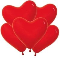 """Шар сердце  красное 16 """"( 40.6 см )"""
